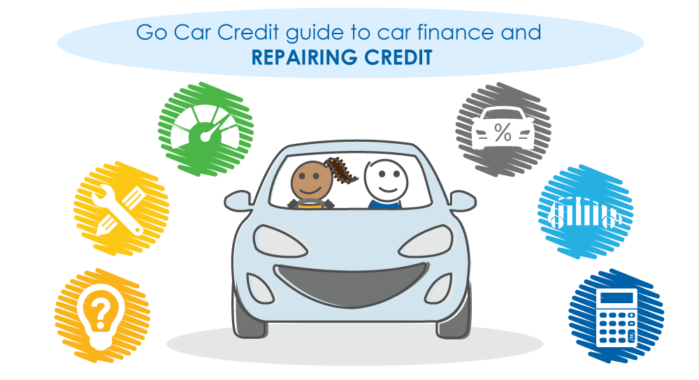repair credit car finance characters