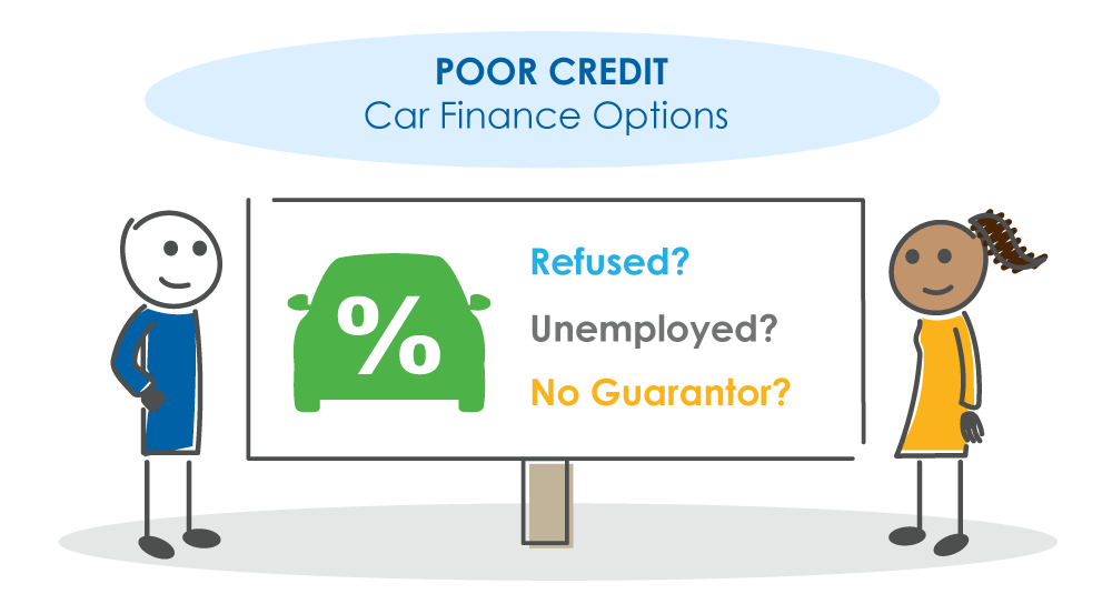 poor credit car finance characters