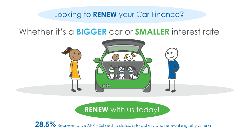 renew car finance characters