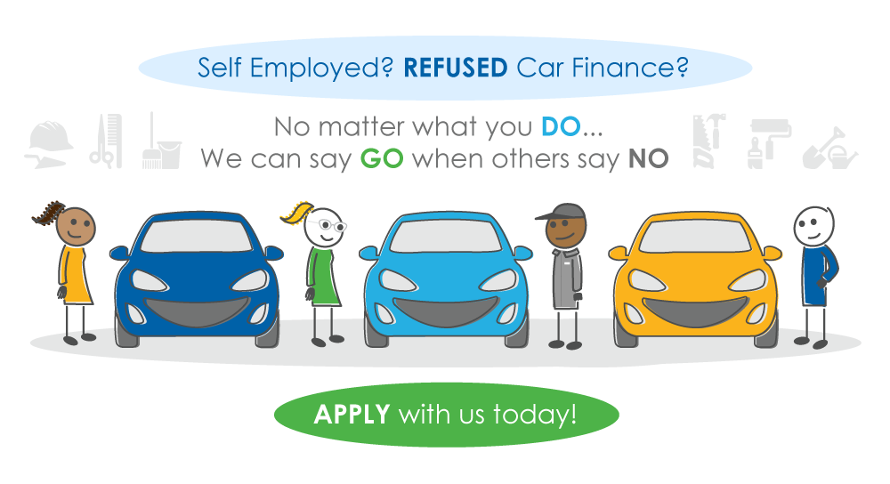 self-employed car finance characters