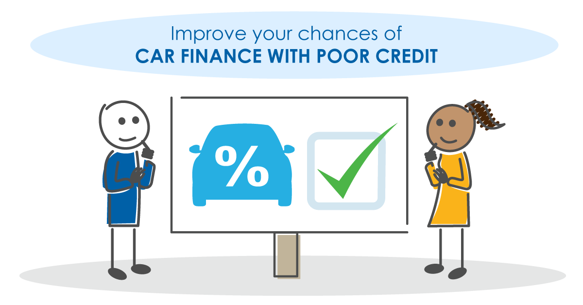 How to improve your chances of car finance with poor credit