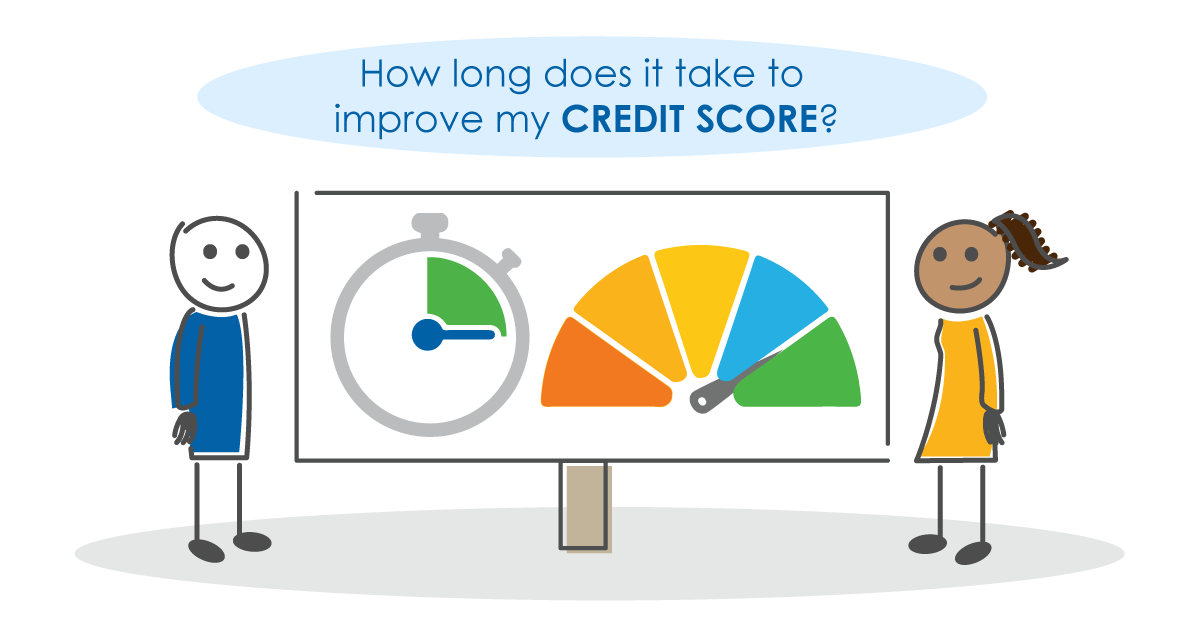 How long does it take to improve my credit score?