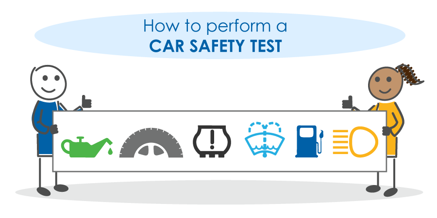 how to perform a car safety test infographic
